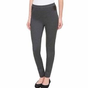 DKNY Pull On Ponte Pants Charcoal Gray Size Small